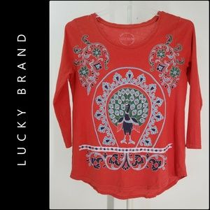 Lucky Brand Woman  Pullover Blouse Size Small